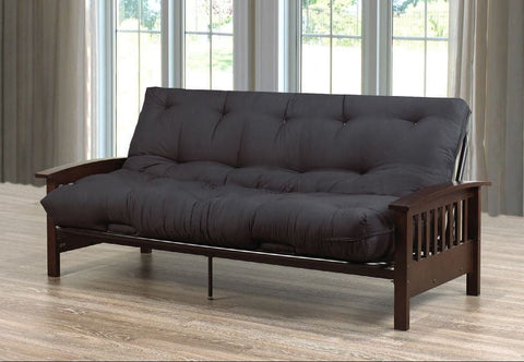 Image of Black Espresso Futon Sofa Bed