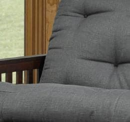 Espresso Fabric Colour Futon Sofa Bed