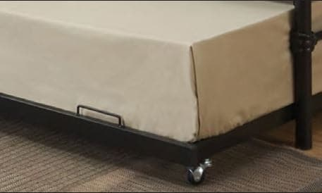Image of Black Gold Accents Metal Frame Bed