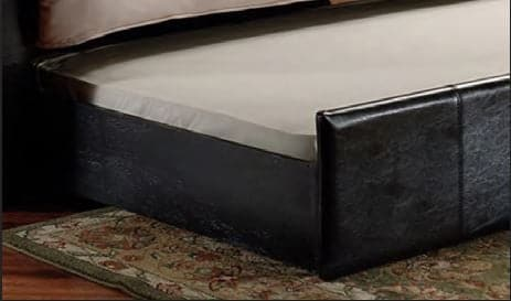 Black Pull-Out Trundle PU Day Bed