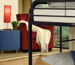 Image of Black Metal Bunk Bed