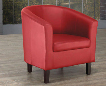 Red PU Tub Chair