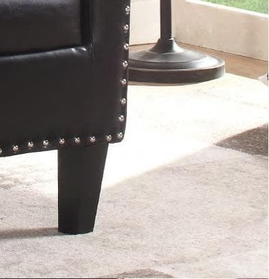 Image of Brown PU Tub Chair With Nail Heads