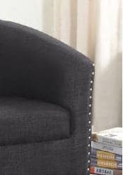 Grey Fabric Tub Chair With Nail Heads