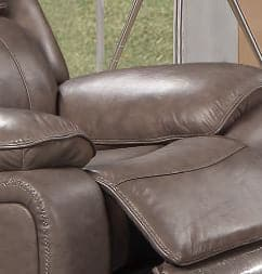Stone Colour Genuine Leather Recliner Chair