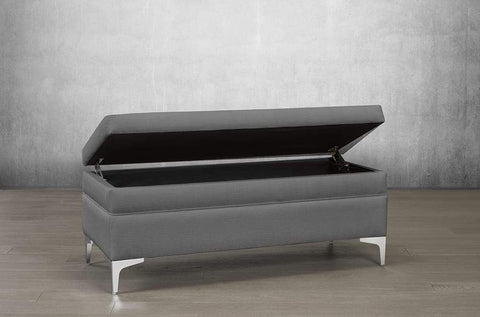 Bonded Leather Storage Bench - DirectBed