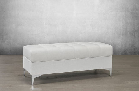 Image of Velvet Storage Bench with Chrome Legs - DirectBed