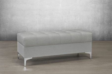 Velvet Storage Bench with Chrome Legs - DirectBed