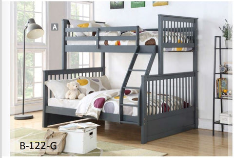 Image of Grey Wooden Converter Bunk Bed