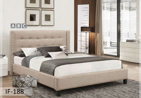 Image of Beige Fabric Bed