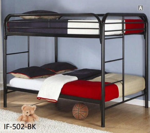 Black Metal Full Bunk Bed