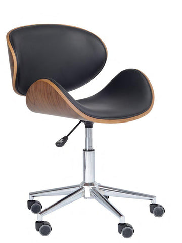 Image of Black PU Bentwood Frame Office Chair