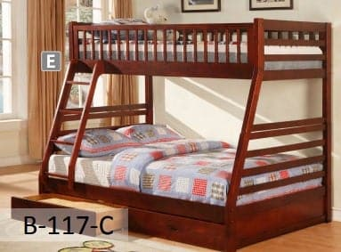 Image of Cherry Wooden Bunk Bed Converts