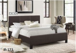 Image of Contrast Stitching Espresso PU Bed