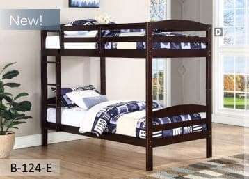 Espresso Wooden Twin Bunk Bed