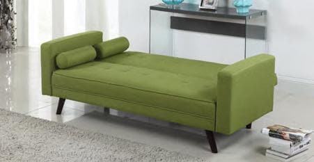 Image of Green Fabric Sofa Bed