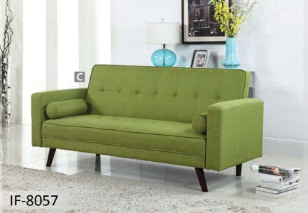 Green Fabric Sofa Bed