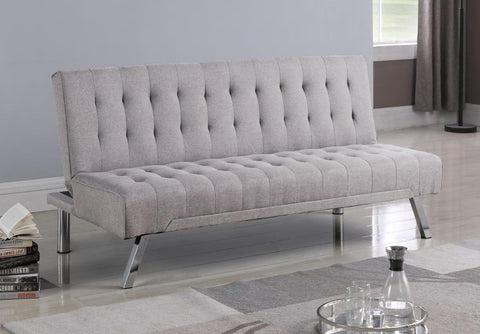 Image of Grey Fabric Sofa Bed with Legs