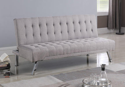 Grey Fabric Sofa Bed with Legs