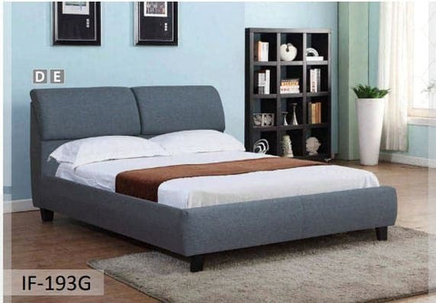 Image of Grey Modern Fabric Bed