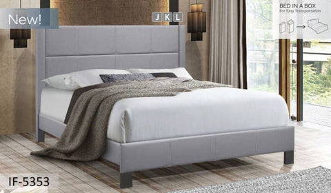 Image of Grey PU Bed