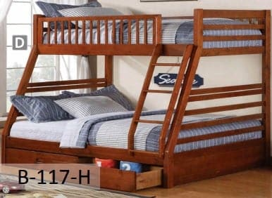 Image of Honey Wooden Bunk Bed Converts