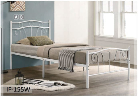 Image of White Metal Bed