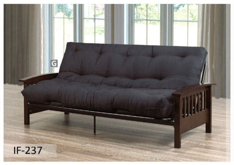 Black Espresso Futon Sofa Bed