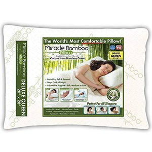 """As Seen on TV"" Bamboo & Gel Memory Foam Cluster Pillow ""Miracle Pillow"" - DirectBed"