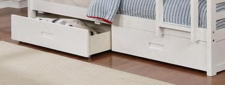 Image of Modern White Wooden Bunk Bed