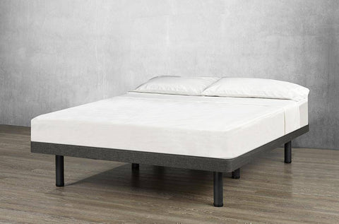 Image of Velvet Platform Base Bed - DirectBed