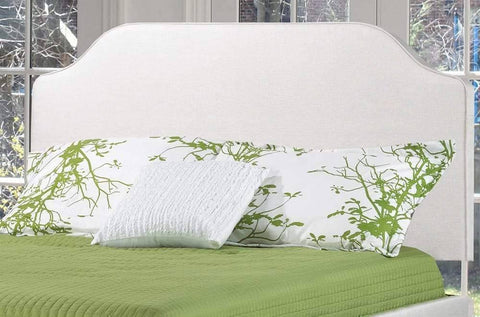 Linen-Style Fabric Headboard and Bed - DirectBed