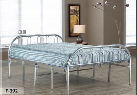 Image of Silver Metal Folding Bed