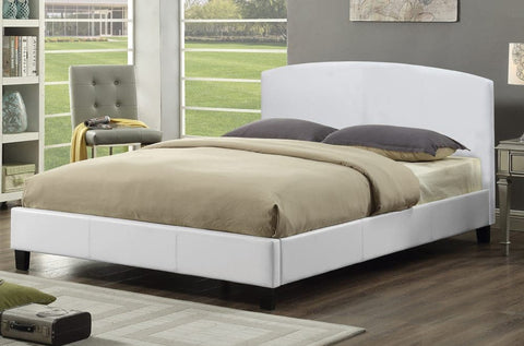 Image of Leatherette Curved Panel Platform Bed - DirectBed