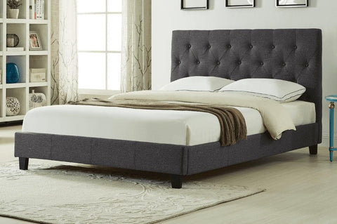 Image of Wood Linen-Style Fabric Platform Bed - DirectBed