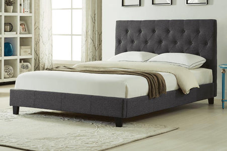 Wood Linen-Style Fabric Platform Bed - DirectBed