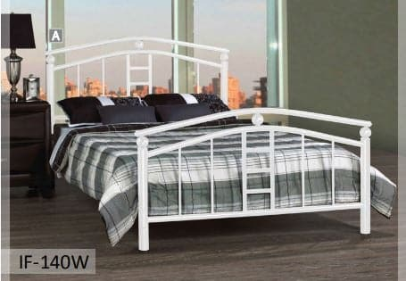 Image of White Metal Stylish Bed