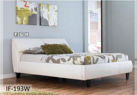 Image of White PU Headrests Bed