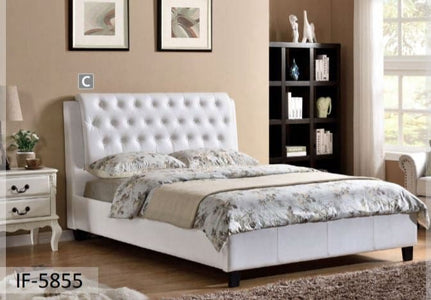 White PU Polyurethane Bed