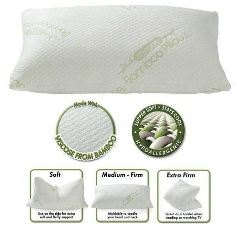 "Image of ""As Seen on TV"" Bamboo & Gel Memory Foam Cluster Pillow ""Miracle Pillow"" - DirectBed"