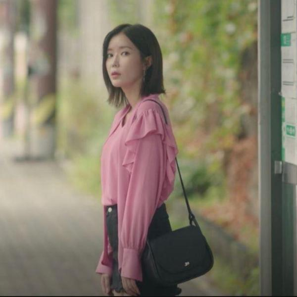 My ID Is Gangnam Beauty: Kang Mi Rae's Pink Frilled Sleeve Top