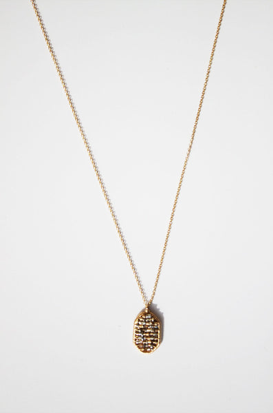 Delicate 14K Gold fill necklace with metallic mix pendant. (AC8081-GF)