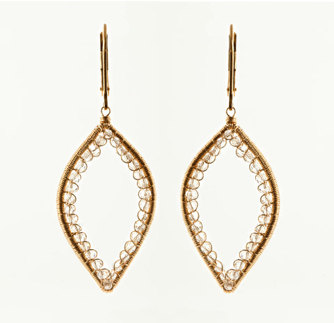 14k gold fill earrings with delicate Swarovski crystal detail. (AE5250)