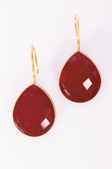 Stone and Gold Earrings