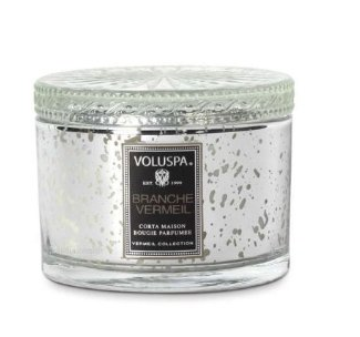 VOLUSPA CANDLES, BRANCHE VERMEIL - 11 OZ CORTA MAISON GLASS CANDLE WITH LID