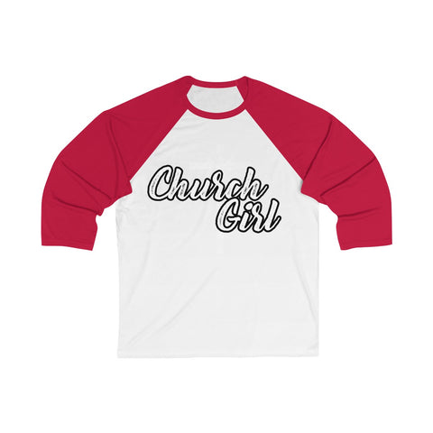 Image of Church Girl 3/4 Sleeve Baseball Tee