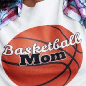 Basketball Mom Shirt - Long Sleeve
