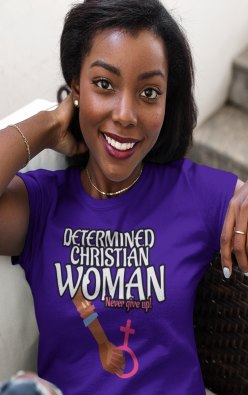 Determined Christian - Christian message t shirts rock!