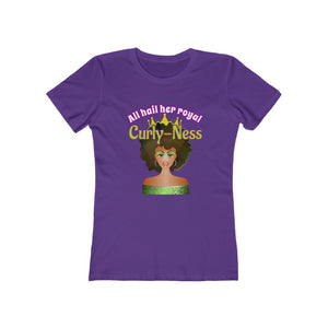 All Hail Her Royal Curly-ness - Curly hair t shirt