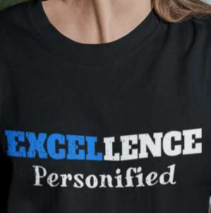 Image of person of excellence tee